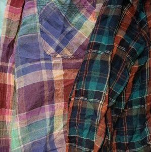 2 American Eagle flannels